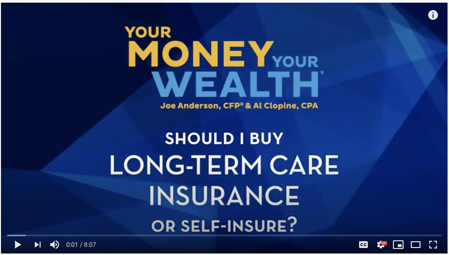 Buy Long-Term Care Insurance or Self-Insure?